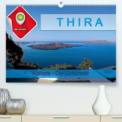 Thira, Kalliste – Die Schönste (Premium, hochwertiger DIN A2 Wandkalender 2021, Kunstdruck in Hochglanz) von Plesky,  Roman