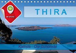 Thira, Kalliste – Die Schönste (Tischkalender 2019 DIN A5 quer) von Plesky,  Roman