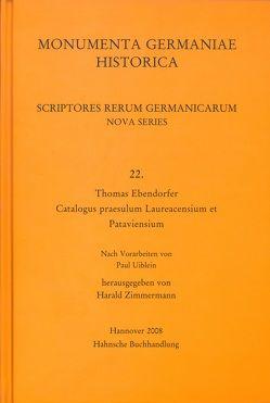 Thomas Ebendorfer, Catalogus praesulum Laureacensium von Zimmermann,  Harald