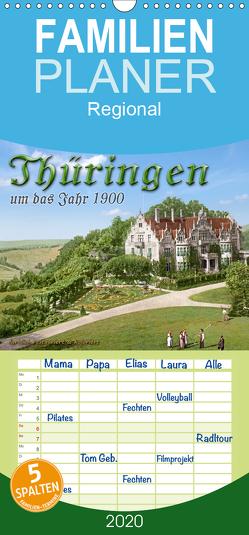 Thüringen um das Jahr 1900 – Fotos neu restauriert und detailcoloriert. – Familienplaner hoch (Wandkalender 2020 , 21 cm x 45 cm, hoch) von Tetsch,  André