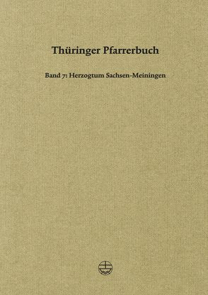 Thüringer Pfarrerbuch von Klingbeil,  Christa