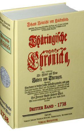 Thüringische Chronicka 1738 – Des Dritten Buchs Anderer Theil (3 von 3) [Thüringen Chronik] von Falckenstein,  Johann Heinrich von