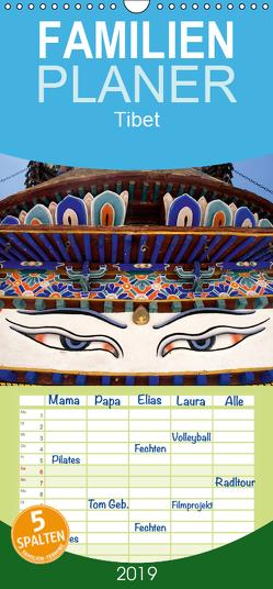 Tibet – Familienplaner hoch (Wandkalender 2019 , 21 cm x 45 cm, hoch) von ledieS,  Katja