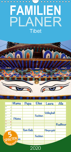Tibet – Familienplaner hoch (Wandkalender 2020 , 21 cm x 45 cm, hoch) von ledieS,  Katja