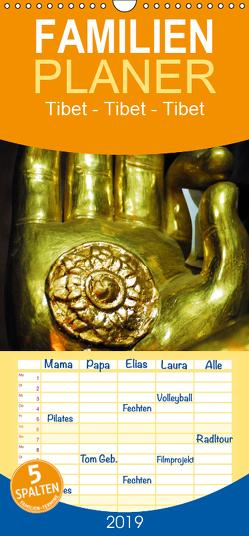 Tibet – Tibet – Tibet 2019 – Familienplaner hoch (Wandkalender 2019 <strong>21 cm x 45 cm</strong> hoch) von Bergermann,  Manfred