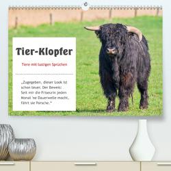 Tier-Klopfer (Premium, hochwertiger DIN A2 Wandkalender 2020, Kunstdruck in Hochglanz) von Kulartz,  Rainer, Plett,  Lisa