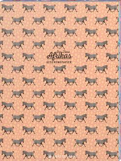 Tiere Afrikas Geschenkpapier-Heft Motiv Zebra von Schöll,  Stephan