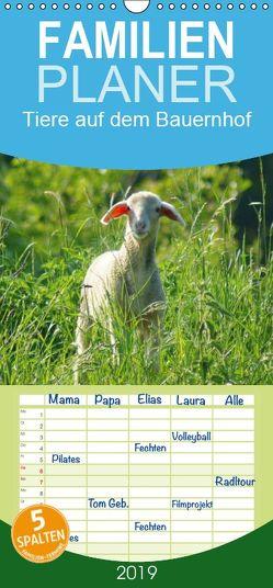 Tiere auf dem Bauernhof – Familienplaner hoch (Wandkalender 2019 , 21 cm x 45 cm, hoch) von kattobello