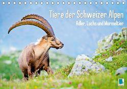 Tiere der Schweizer Alpen (Tischkalender 2018 DIN A5 quer) von CALVENDO,  k.A.