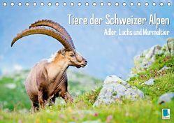 Tiere der Schweizer Alpen (Tischkalender 2019 DIN A5 quer) von CALVENDO