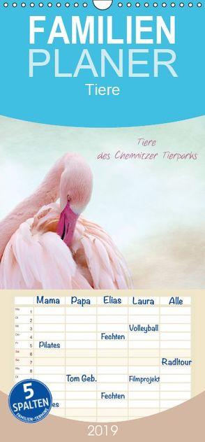 Tiere des Chemnitzer Tierparks – Familienplaner hoch (Wandkalender 2019 , 21 cm x 45 cm, hoch) von Hultsch,  Heike