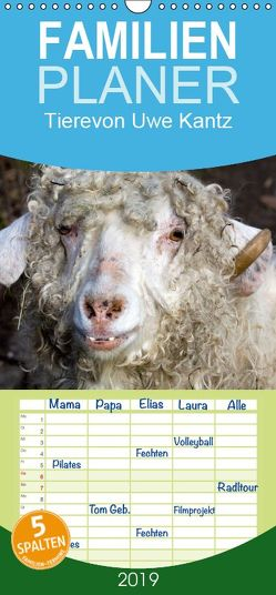 Tiere – Familienplaner hoch (Wandkalender 2019 , 21 cm x 45 cm, hoch) von Kantz,  Uwe