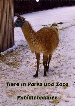 Tiere in Parks und Zoos – Familienplaner (Wandkalender 2019 DIN A2 hoch) von Schneller,  Helmut