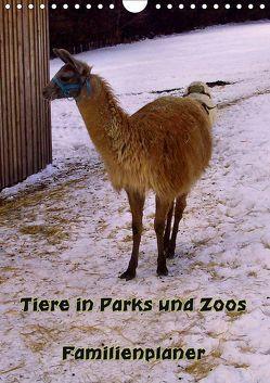 Tiere in Parks und Zoos – Familienplaner (Wandkalender 2019 DIN A4 hoch) von Schneller,  Helmut