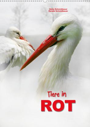 Tiere in ROT (Wandkalender 2021 DIN A2 hoch) von Schmidbauer,  Heinz