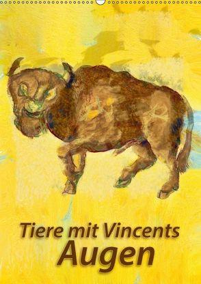 Tiere mit Vincents Augen (Wandkalender 2018 DIN A2 hoch) von Bleckmann,  Mathias