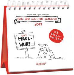Tiere sind auch nur Menschen 2019 – Postkartenkalender 2019 von Mark,  Josephine