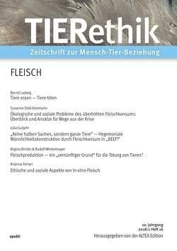 TIERethik (10. Jahrgang 2018/1) von Edition Altex,  Herausgeber