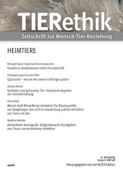 TIERethik (11. Jahrgang 2019/1) von Edition Altex,  Herausgeber