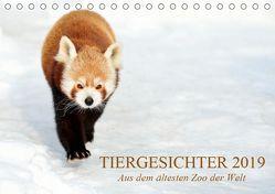Tiergesichter 2019 (Tischkalender 2019 DIN A5 quer) von Stotz,  Manfred