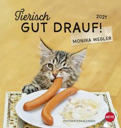 Tierisch gut drauf Postkartenkalender Kalender 2021 von Heye, Wegler,  Monika