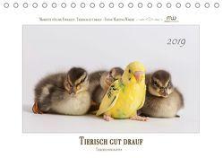 Tierisch gut drauf – Tierfreundschaften (Tischkalender 2019 DIN A5 quer) von Wrede,  Martina