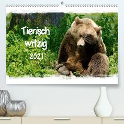 Tierisch witzig (Premium, hochwertiger DIN A2 Wandkalender 2021, Kunstdruck in Hochglanz) von / Kottal,  Elsner