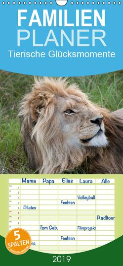 Tierische Glücksmomente – Familienplaner hoch (Wandkalender 2019 , 21 cm x 45 cm, hoch) von Bolkart,  Corinna