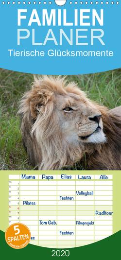 Tierische Glücksmomente – Familienplaner hoch (Wandkalender 2020 , 21 cm x 45 cm, hoch) von Bolkart,  Corinna