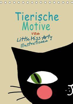 Tierische Motive von Little Miss Arty Illustrationen (Tischkalender 2019 DIN A5 hoch)