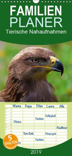 Tierische Nahaufnahmen – Familienplaner hoch (Wandkalender 2019 , 21 cm x 45 cm, hoch) von Valentino,  Bo
