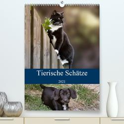 Tierische Schätze (Premium, hochwertiger DIN A2 Wandkalender 2021, Kunstdruck in Hochglanz) von Metternich,  Doris