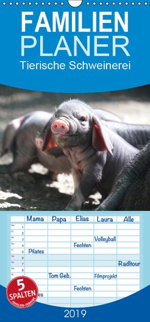 Tierische Schweinerei – Familienplaner hoch (Wandkalender 2019 , 21 cm x 45 cm, hoch) von Mielewczyk,  Barbara