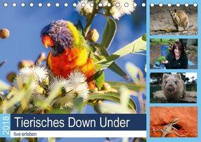 Tierisches Down Under – live erleben (Tischkalender 2018 DIN A5 quer) von Fietzek,  Anke