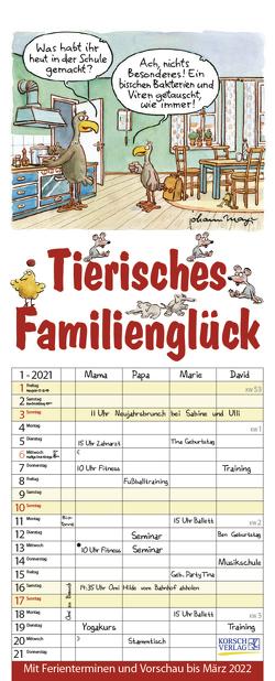 Tierisches Familienglück 2021 von Korsch Verlag, Mayr,  Johann