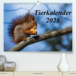 Tierkalender 2021 (Premium, hochwertiger DIN A2 Wandkalender 2021, Kunstdruck in Hochglanz) von Tschöpe,  Frank