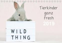 Tierkinder ganz frech (Tischkalender 2019 DIN A5 quer) von Eckelt,  Natalie