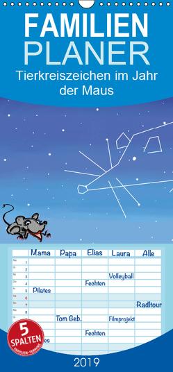 Tierkreiszeichen im Jahr der Maus – Familienplaner hoch (Wandkalender 2019 <strong>21 cm x 45 cm</strong> hoch) von Conrad,  Ralf