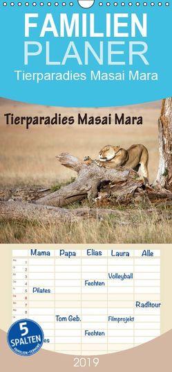 Tierparadies Masai Mara – Familienplaner hoch (Wandkalender 2019 , 21 cm x 45 cm, hoch) von Stern,  Angelika