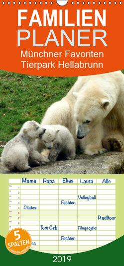 Tierpark Hellabrunn – Münchner Favoriten – Familienplaner hoch (Wandkalender 2019 , 21 cm x 45 cm, hoch) von Schäfer-Löbl,  Evy