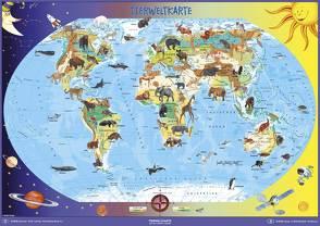 Tierweltkarte von Stiefel,  Heinrich