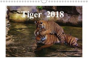 Tiger 2018 (Wandkalender 2018 DIN A4 quer) von Hennig,  Jörg