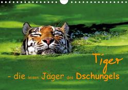 Tiger – die leisen Jäger des Dschungels (Wandkalender 2020 DIN A4 quer) von Krone,  Elke