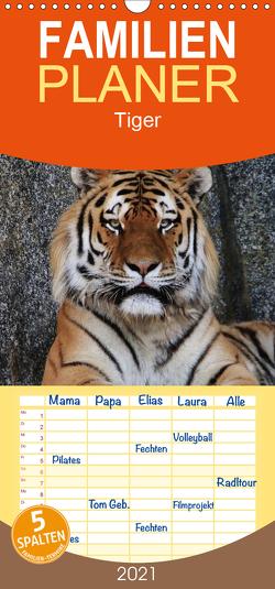 Tiger – Familienplaner hoch (Wandkalender 2021 , 21 cm x 45 cm, hoch) von Hennig,  Jörg