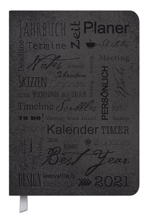 Timer Soft Touch schwarz 2021 von Korsch Verlag