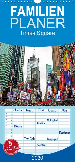 Times Square – Familienplaner hoch (Wandkalender 2020 , 21 cm x 45 cm, hoch) von Damm,  Andrea