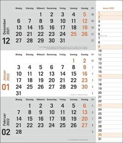 times&more 3-Monatsplaner, orange Kalender 2022 von Heye