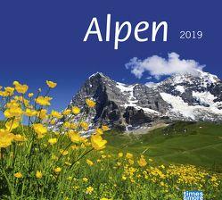 times&more Alpen Bildkalender – Kalender 2019 von Heye