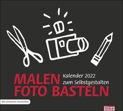 times&more Bastelkalender schwarz 2022 von Heye