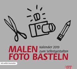 times&more Bastelkalender, silber – Kalender 2019 von Heye